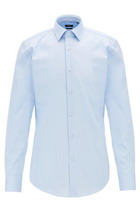 Chemise Slim Fit en coton à la finition facile à repasser, Bleu vif