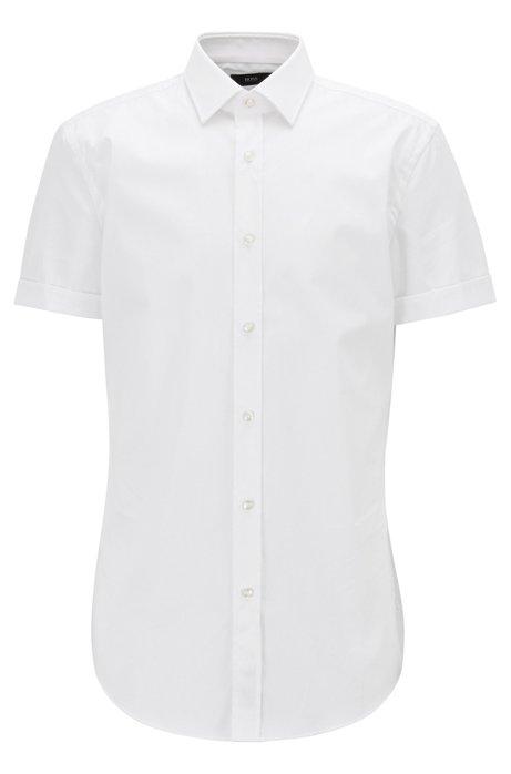 BOSS - Camisa slim fit en algodón austriaco de planchado fácil 5029569dd17