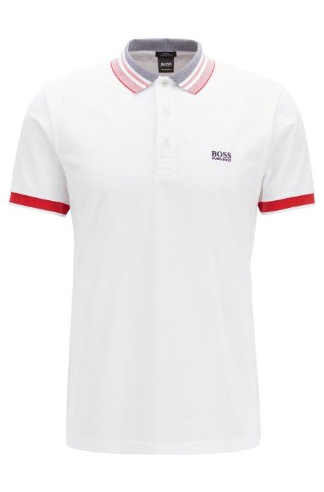242c48766 BOSS - Slim-fit polo shirt in piqué-cotton