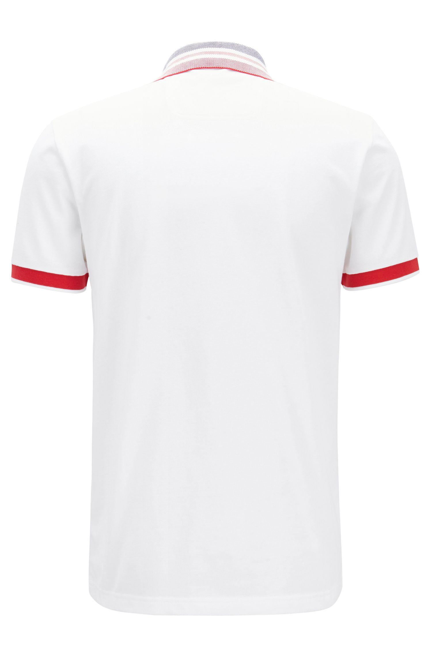 Slim-fit polo shirt in piqué-cotton , White