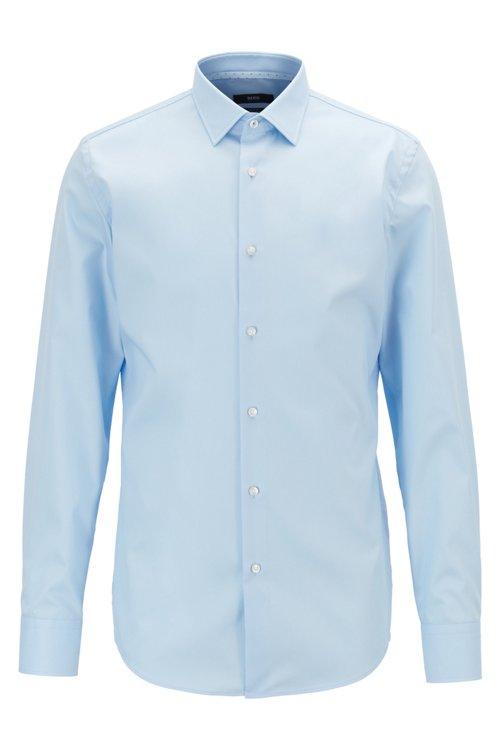 Hugo Boss - Slim-Fit Hemd aus bügelleichter Baumwolle mit Kontrast-Details innen - 1