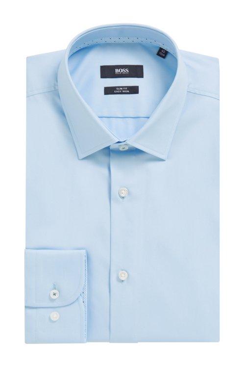 Hugo Boss - Slim-Fit Hemd aus bügelleichter Baumwolle mit Kontrast-Details innen - 5