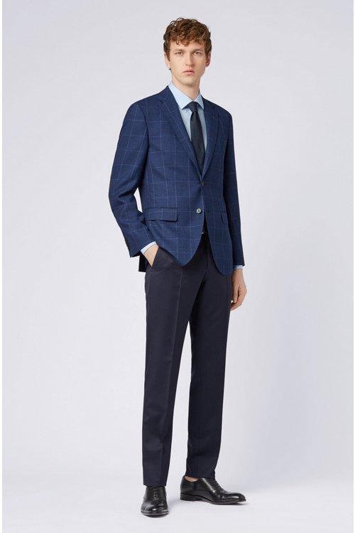 Hugo Boss - Slim-Fit Hemd aus bügelleichter Baumwolle mit Kontrast-Details innen - 2