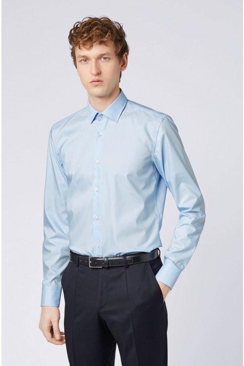 Hugo Boss - Slim-Fit Hemd aus bügelleichter Baumwolle mit Kontrast-Details innen - 3