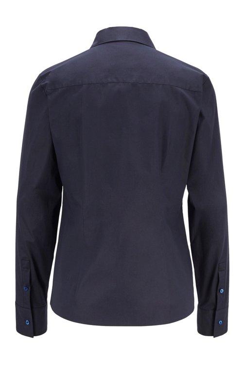 Hugo Boss - Regular-Fit Bluse aus elastischer Baumwoll-Popeline - 3