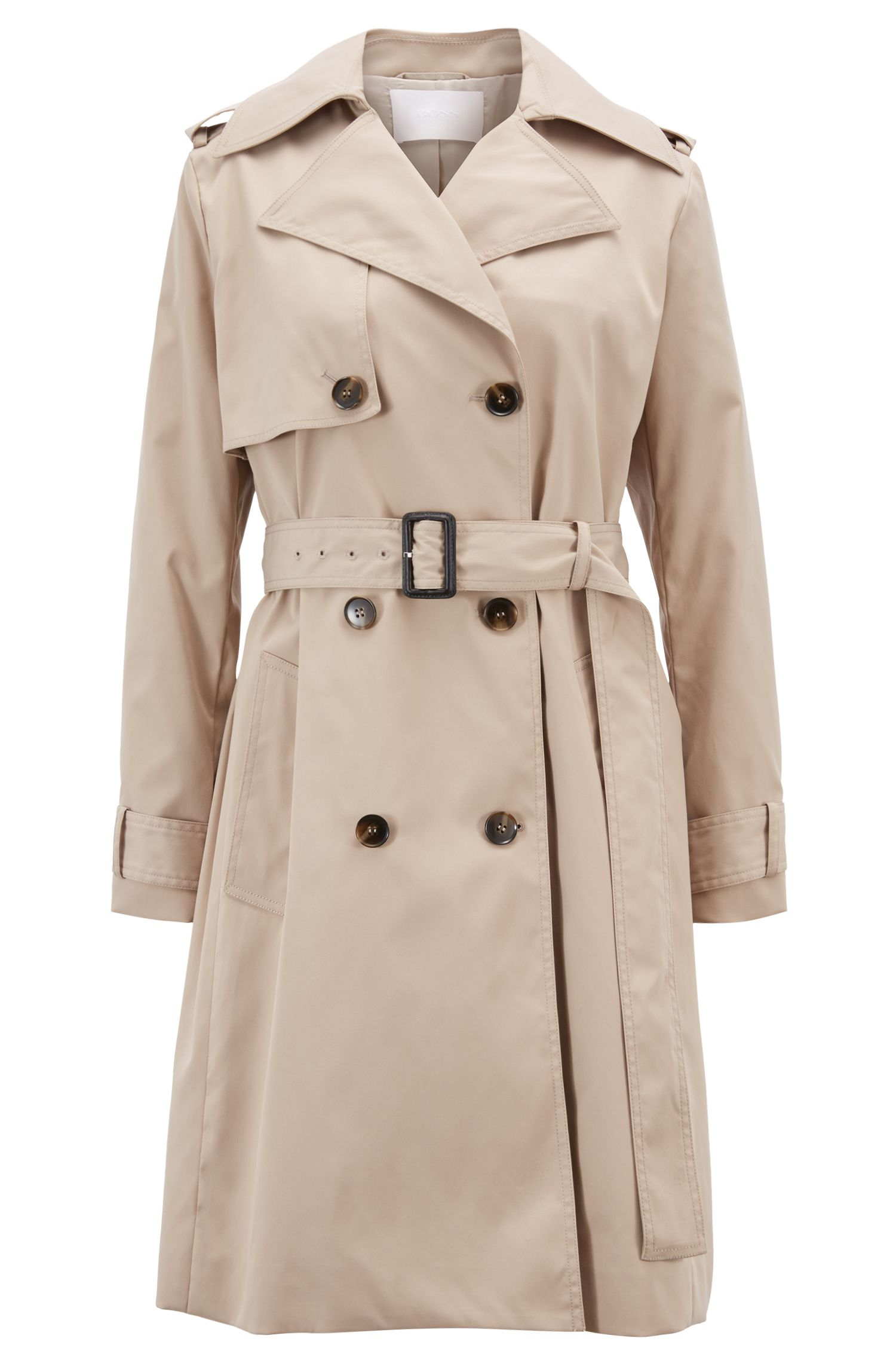 Hugo Boss - Double-breasted trench coat with oversized lapels - 1