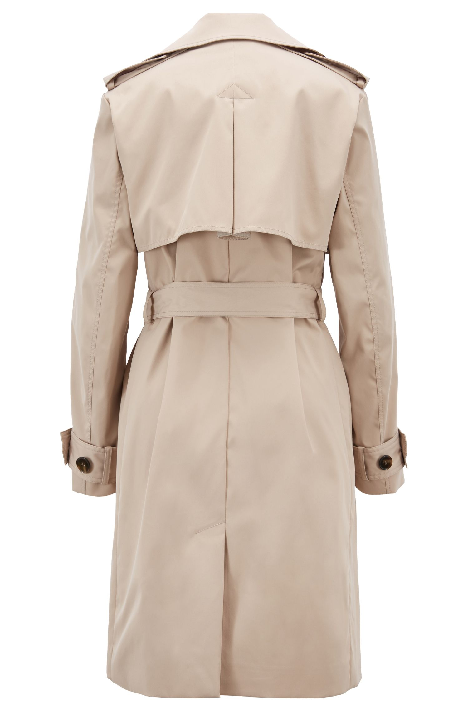 Hugo Boss - Double-breasted trench coat with oversized lapels - 3
