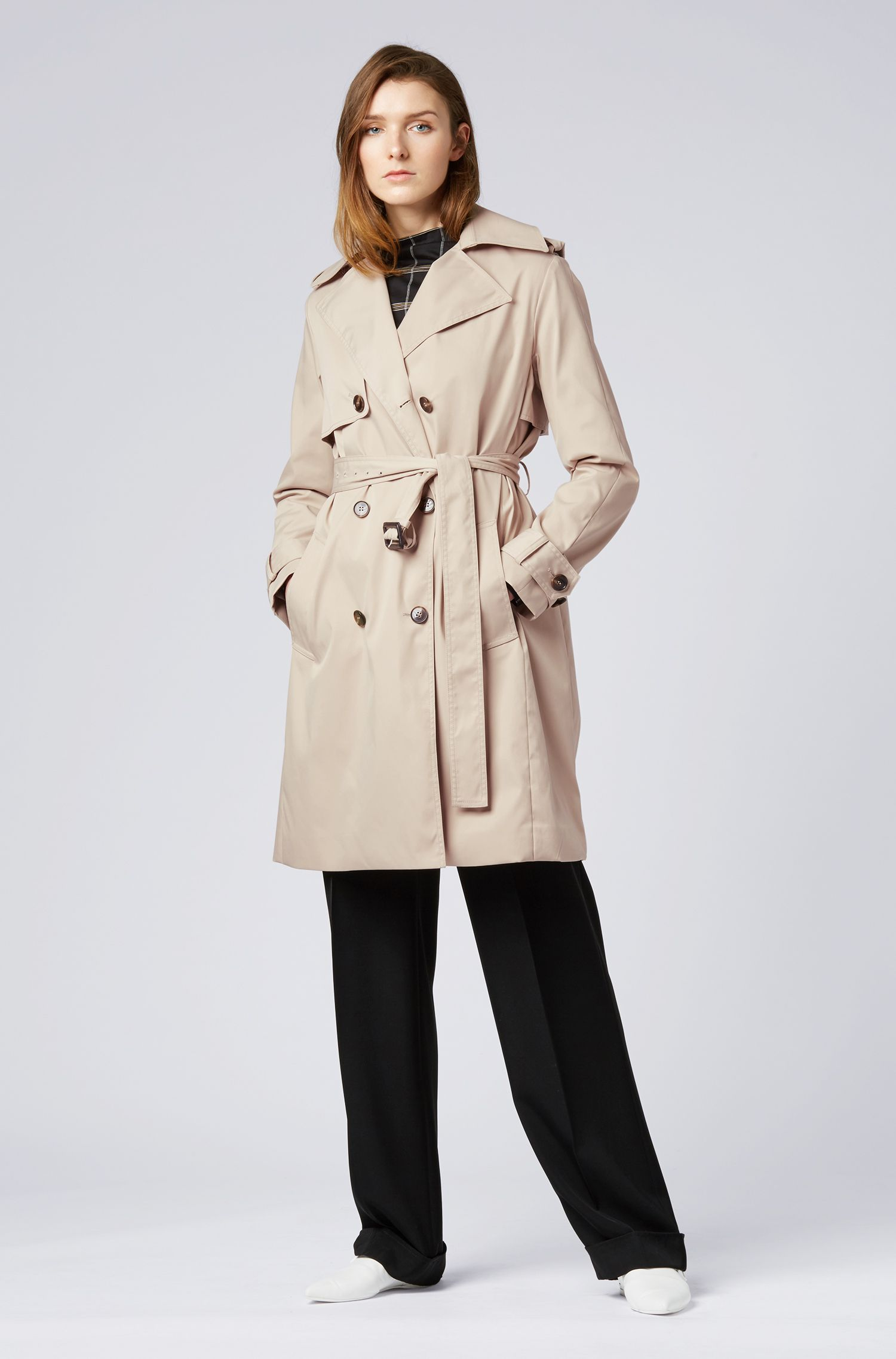 Hugo Boss - Double-breasted trench coat with oversized lapels - 2
