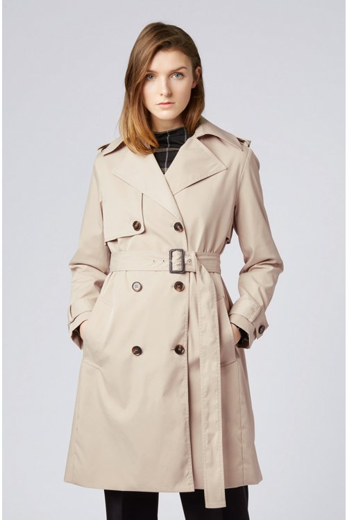 Hugo Boss - Double-breasted trench coat with oversized lapels - 4