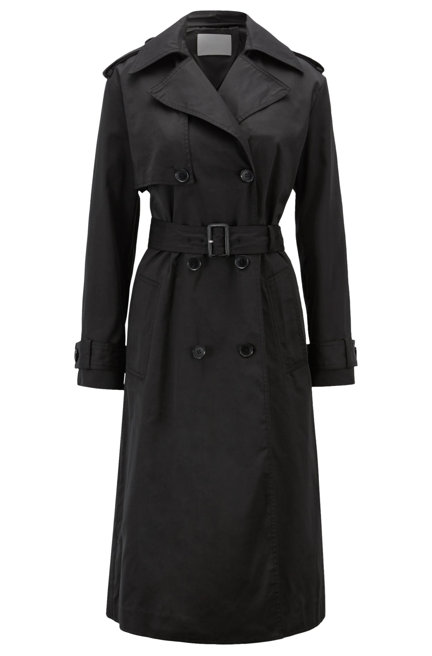 Hugo Boss - Double-breasted trench coat in water-repellent twill - 1
