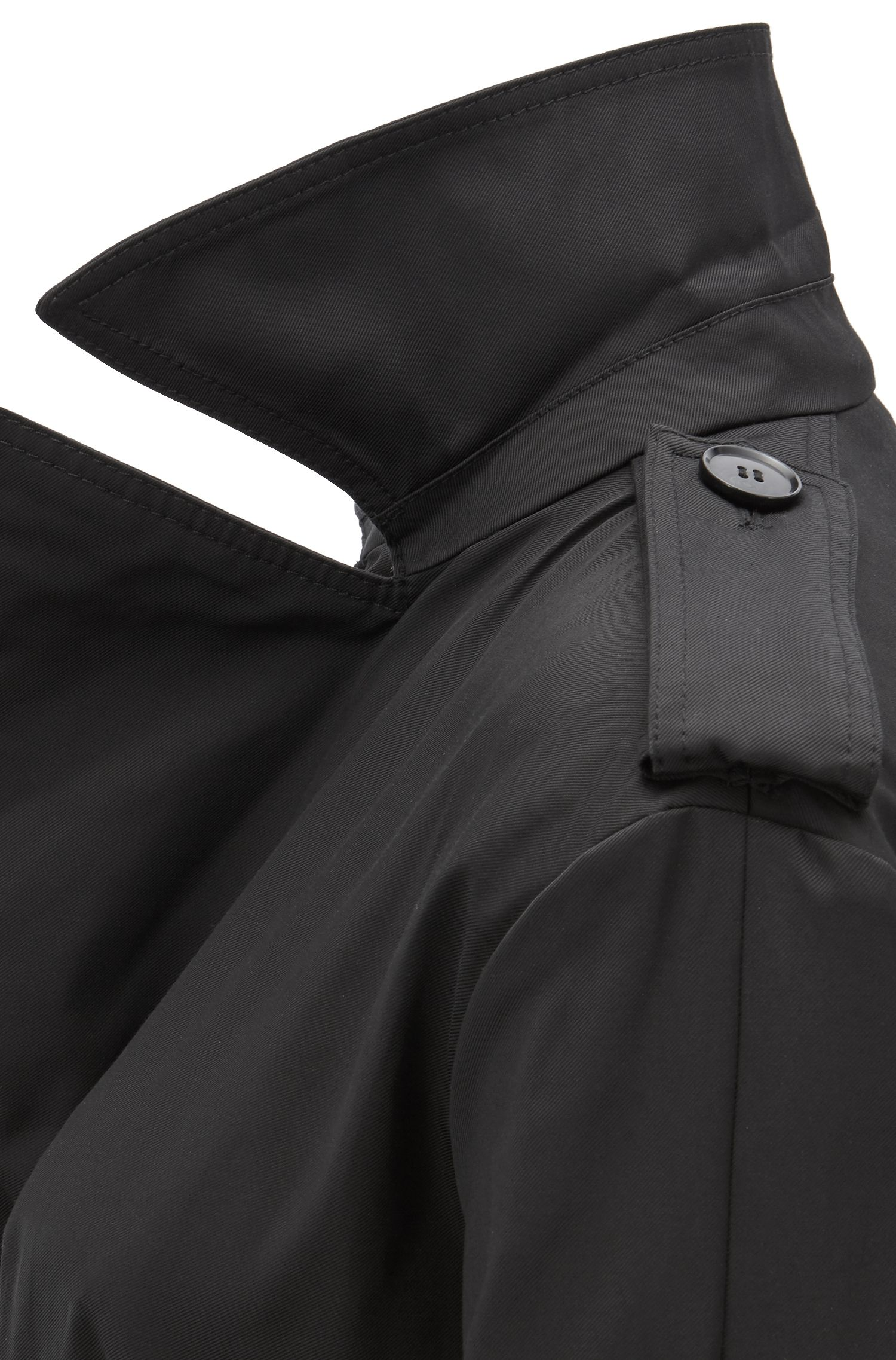 Hugo Boss - Zweireihiger Trenchcoat aus wasserabweisendem Twill - 5