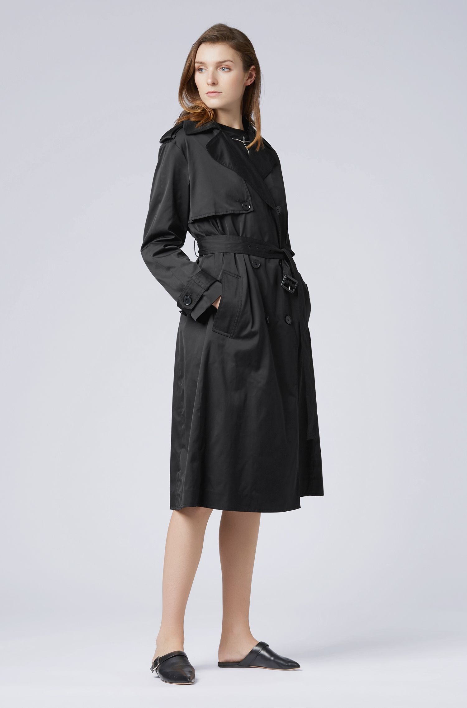 Hugo Boss - Double-breasted trench coat in water-repellent twill - 2
