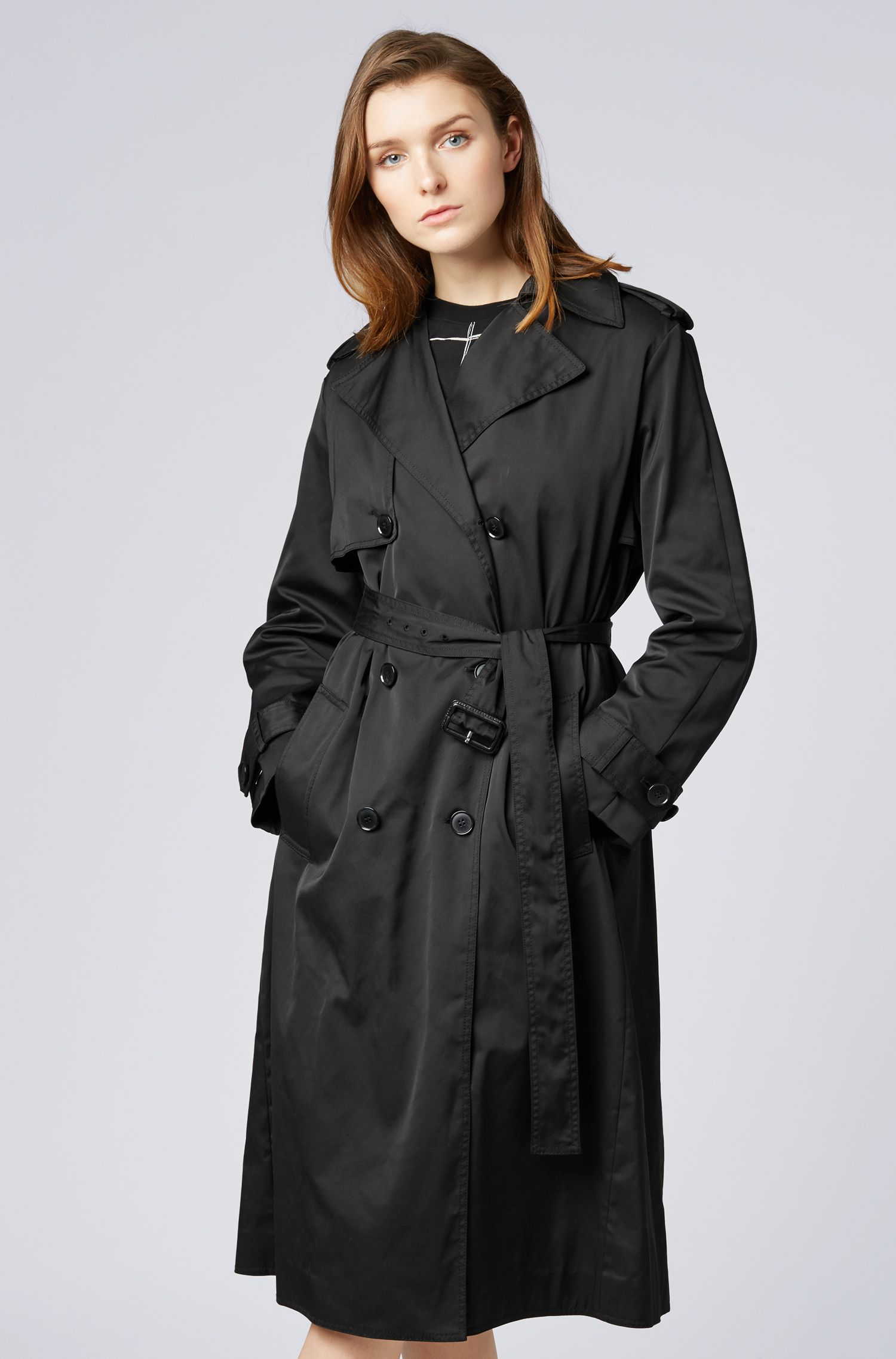 Hugo Boss - Double-breasted trench coat in water-repellent twill - 4