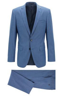 outlet store a4ad1 703cf Slim-Fit Anzug aus natürlich elastischer Schurwolle