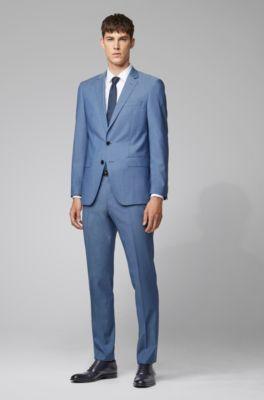 outlet store 7740e 9a3f7 Slim-Fit Anzug aus natürlich elastischer Schurwolle
