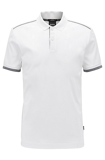男士商务休闲白色短袖Polo衫,  100_白色