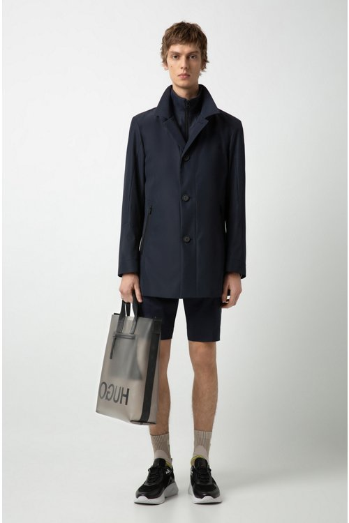 Hugo Boss - Wasserabweisender Regular-Fit Mantel mit herausnehmbarem Innenfutter - 2