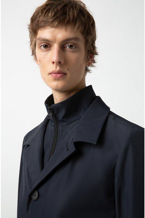 Hugo Boss - Wasserabweisender Regular-Fit Mantel mit herausnehmbarem Innenfutter - 3