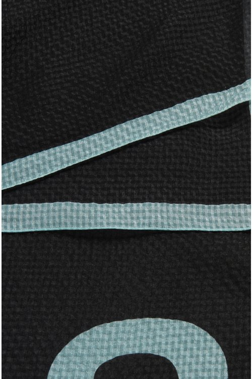 Hugo Boss - Square scarf in pure silk with seersucker effect - 3