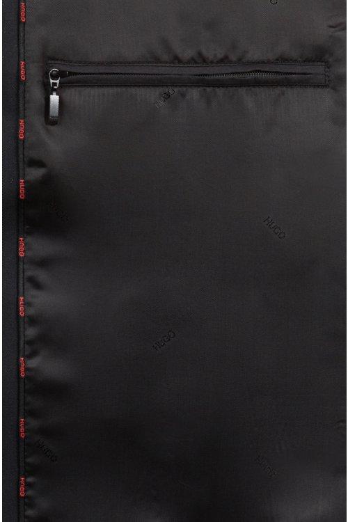 Hugo Boss - Abrigo repelente al agua con corte de sastrería y cremallera oculta - 6