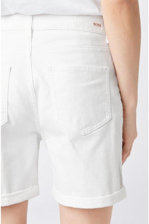 Hugo Boss - Shorts relaxed fit en denim elástico para el máximo confort - 4