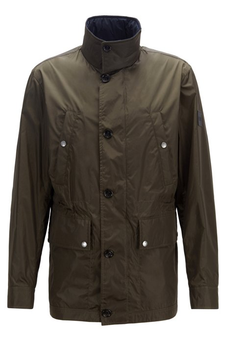 Regular-fit fieldjacket met waterafstotende laag, Donkergroen