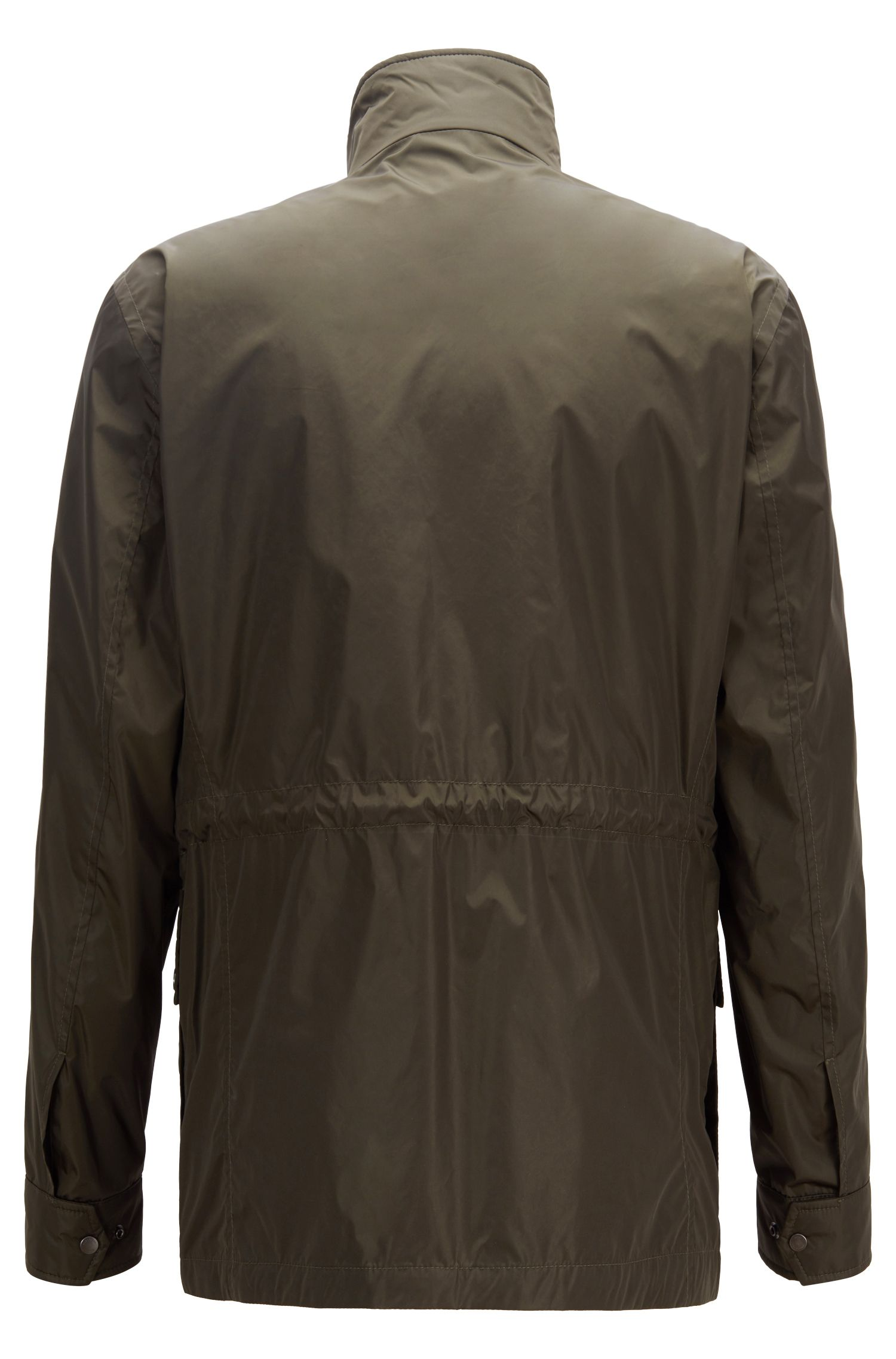 Regular-fit field jacket with water-repellent treatment, Dark Green