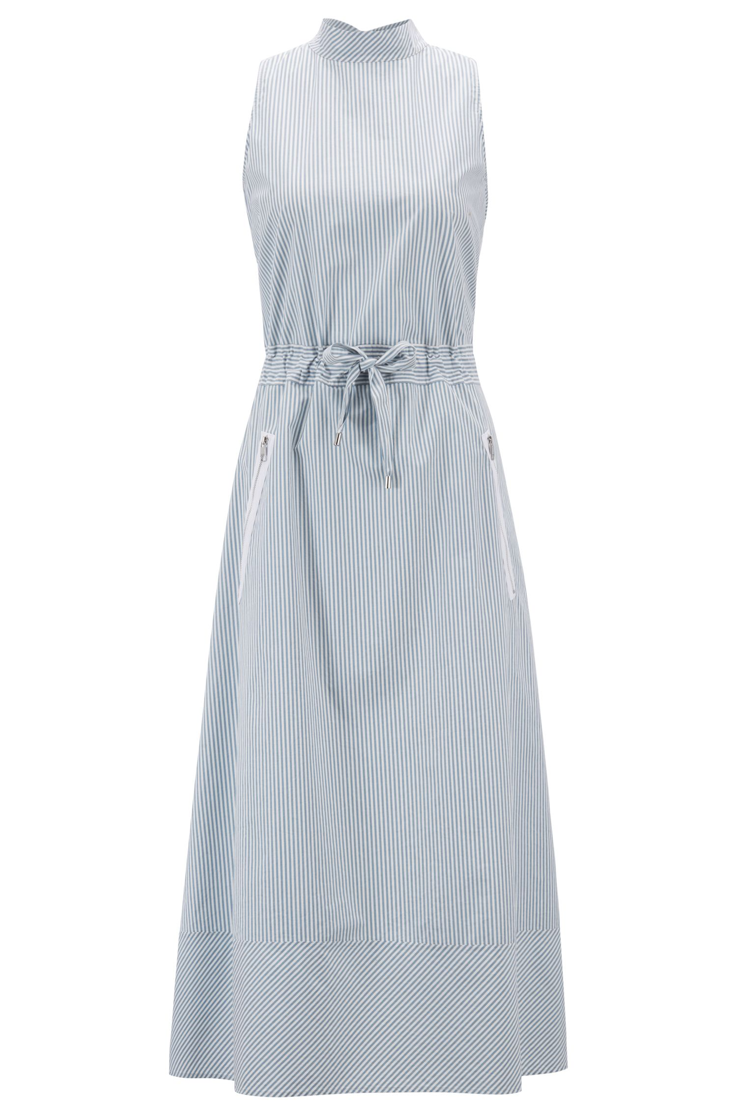 Regular-fit dress with coulisse waist, Blue