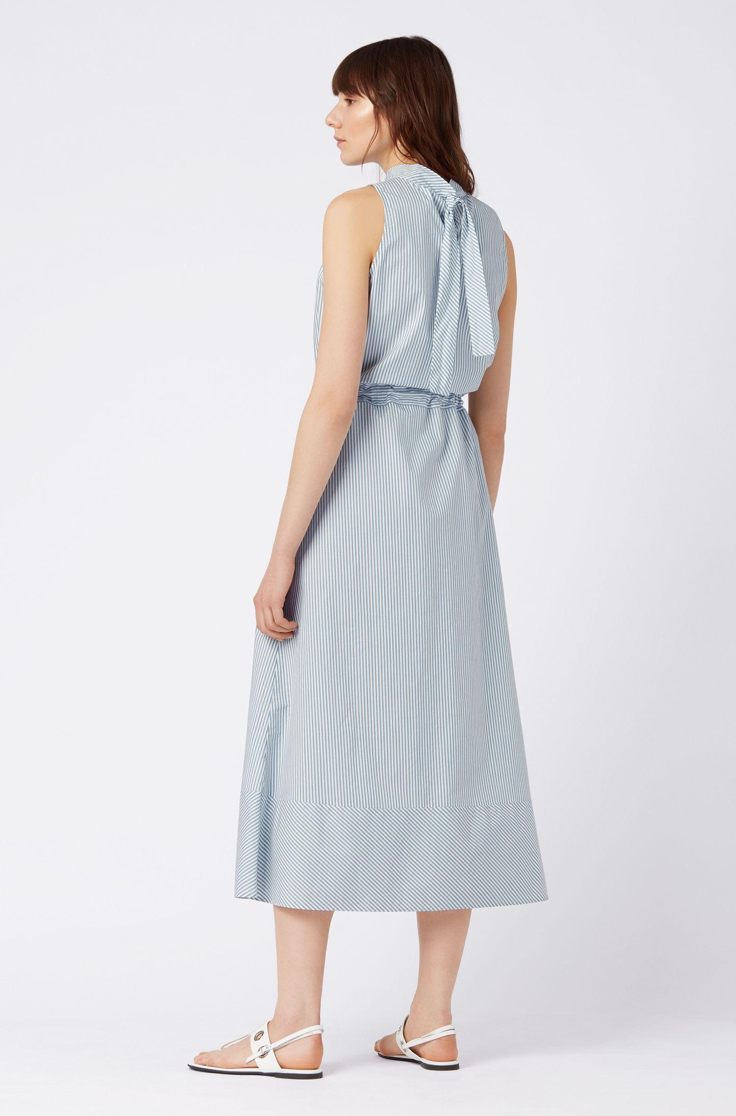 Regular-fit jurk met een gerimpelde taille, Blauw