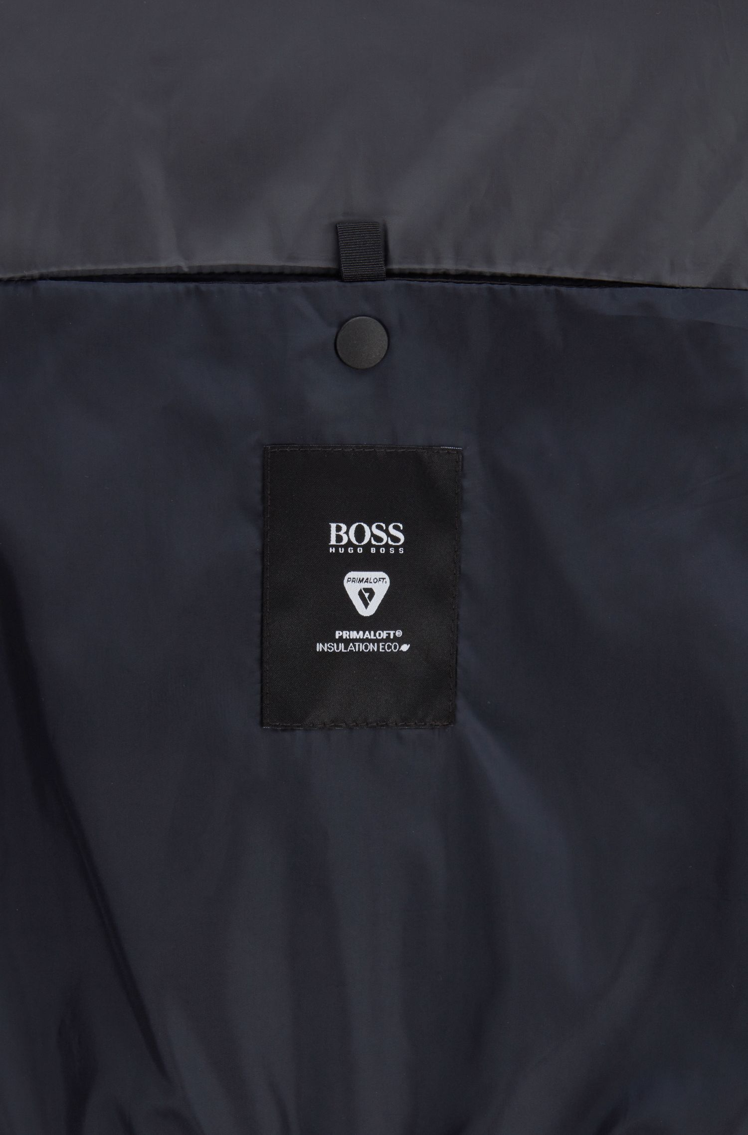 Blouson en tissu recyclé avec garnissage PrimaLoft®, Bleu foncé