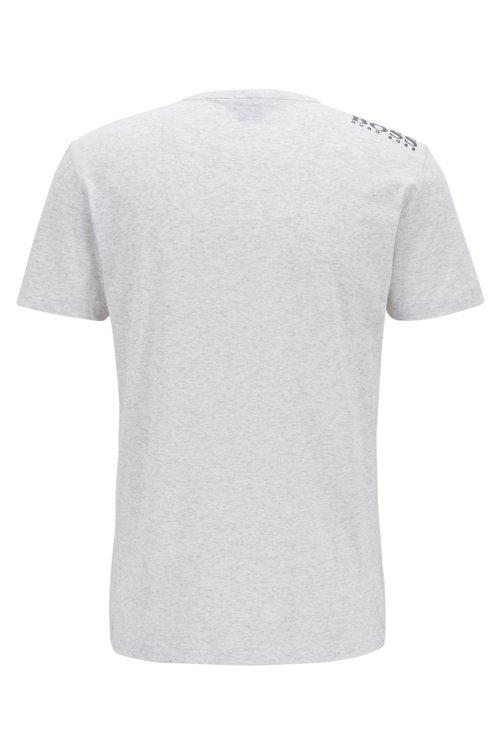 Hugo Boss - Camiseta de cuello en pico en algodón con logo del hombro en contraste - 3