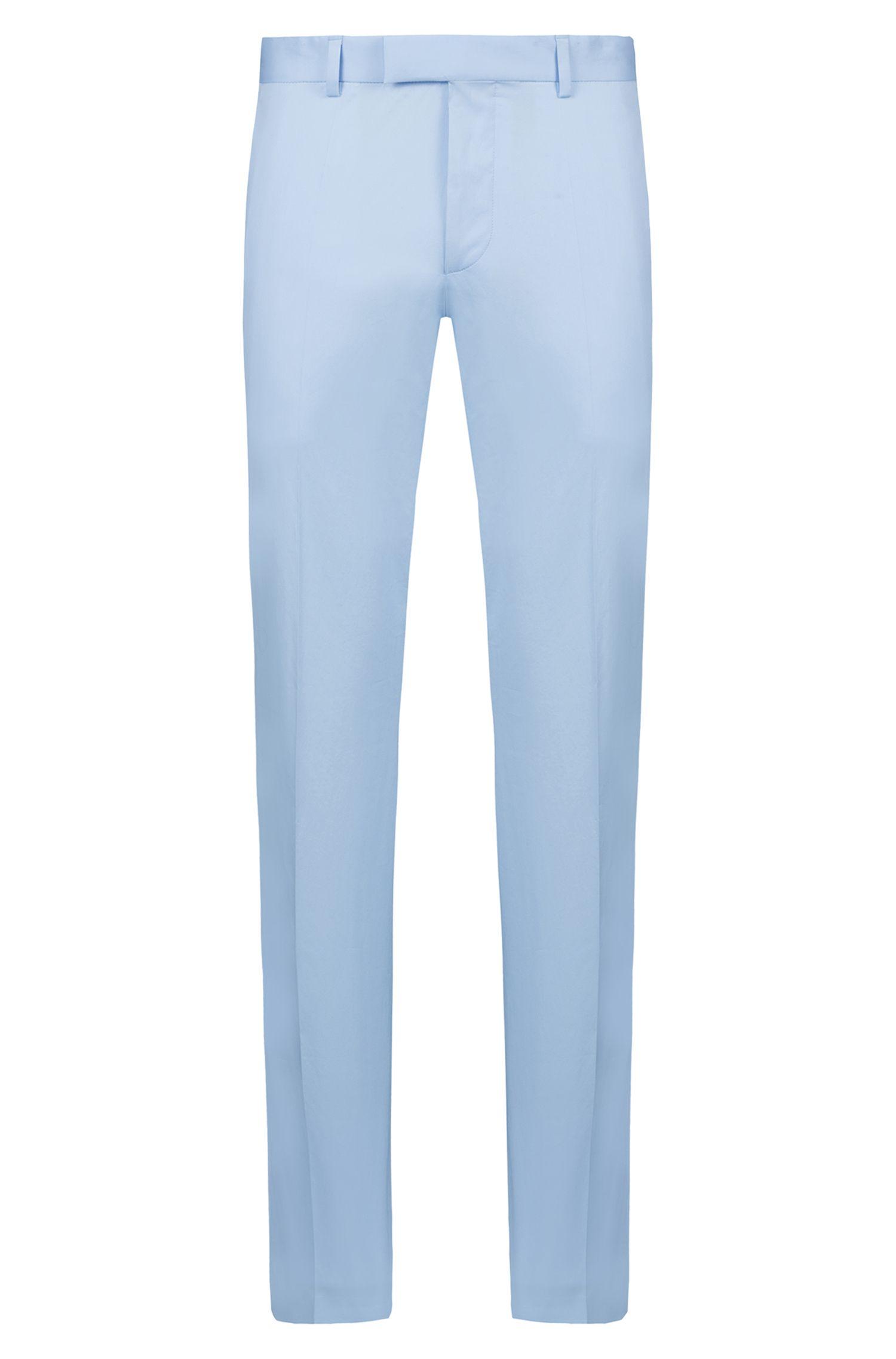 Extra Slim-Fit Hose aus Stretch-Baumwolle, Hellblau