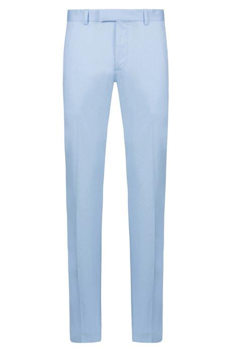 Extra slim-fit broek van stretchkatoen, Lichtblauw