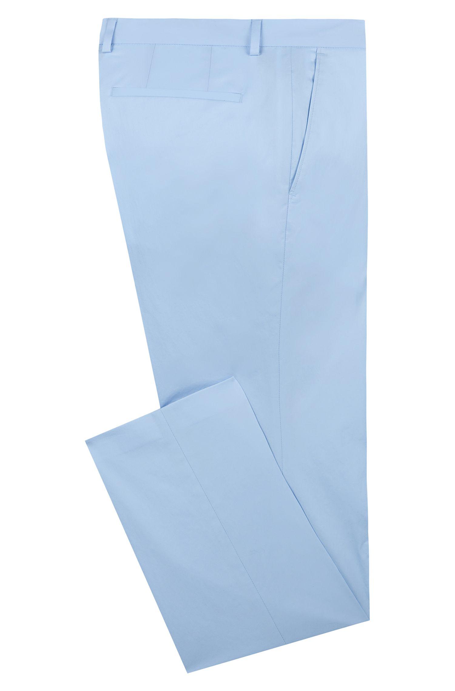 Pantaloni extra slim fit in cotone elasticizzato, Celeste