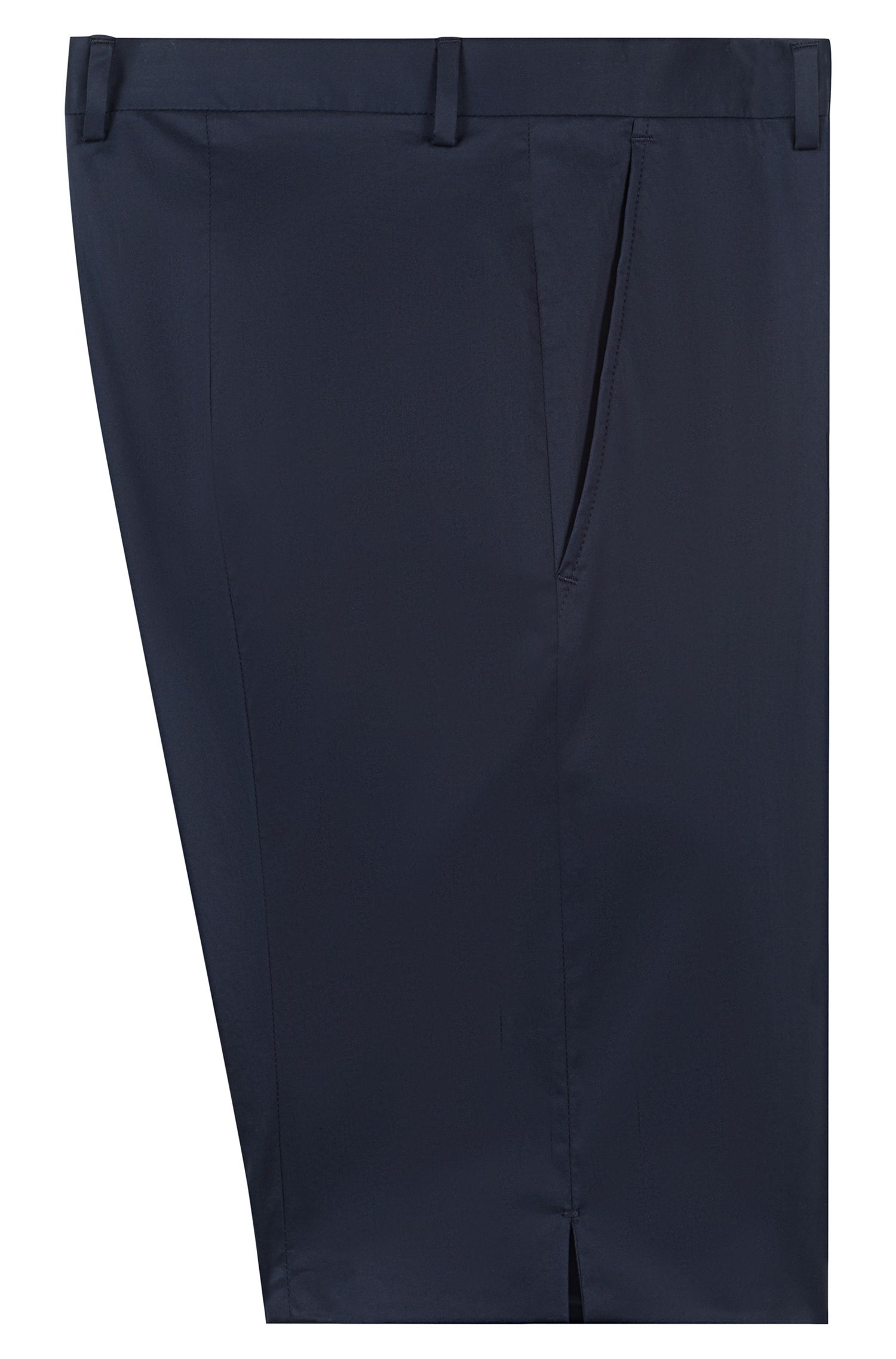 Extra-slim-fit stretch-cotton shorts, Dark Blue