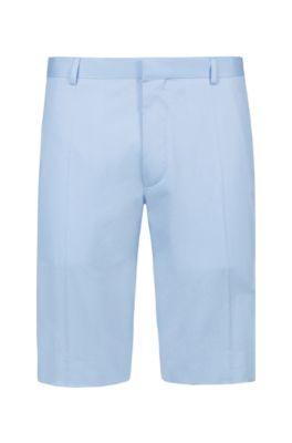 Extra-slim-fit stretch-cotton shorts, Light Blue