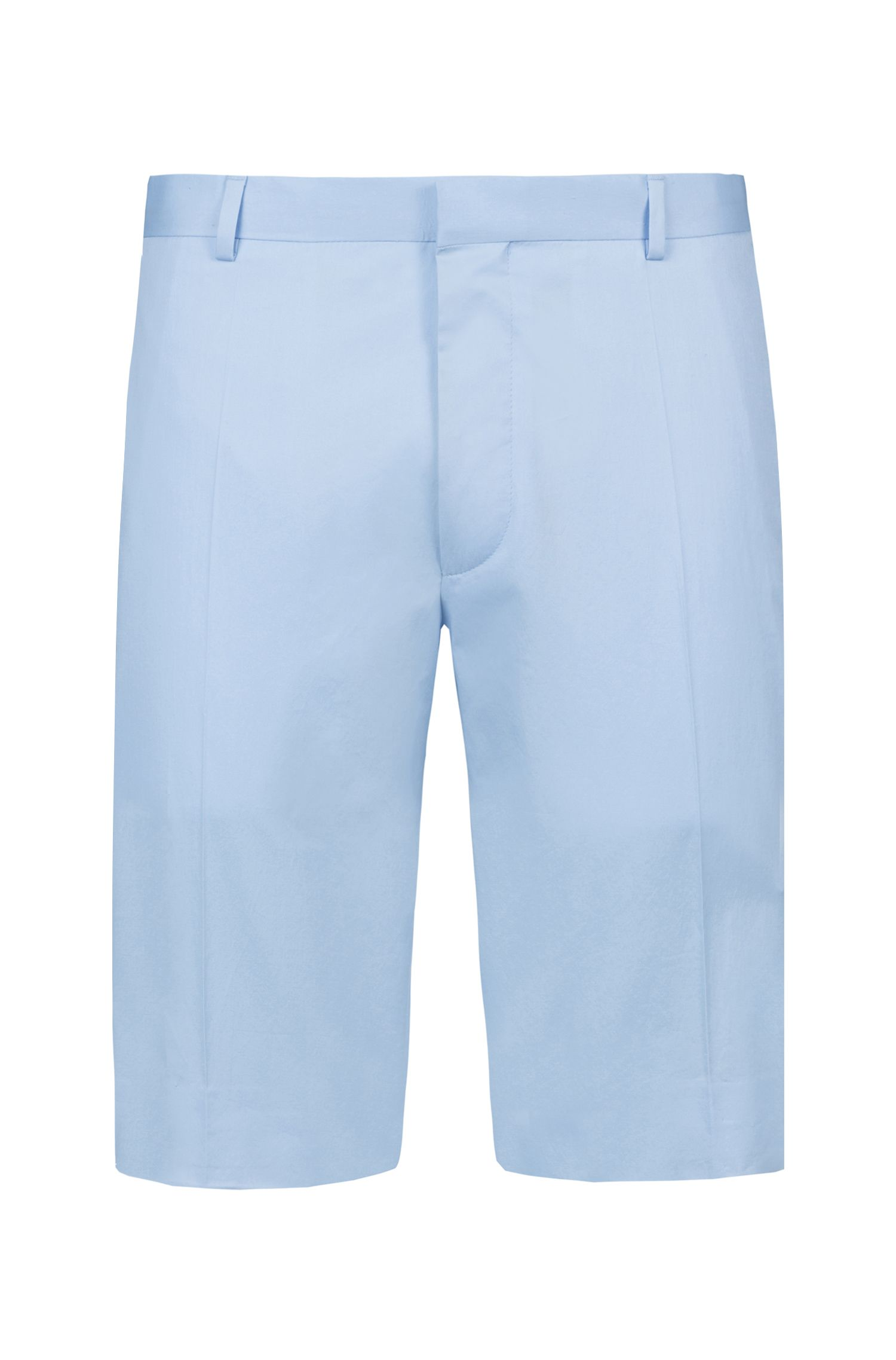 Extra Slim-Fit Shorts aus Stretch-Baumwolle, Hellblau