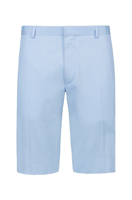 Extra-slim-fit stretch-cotton shorts, Light Blue