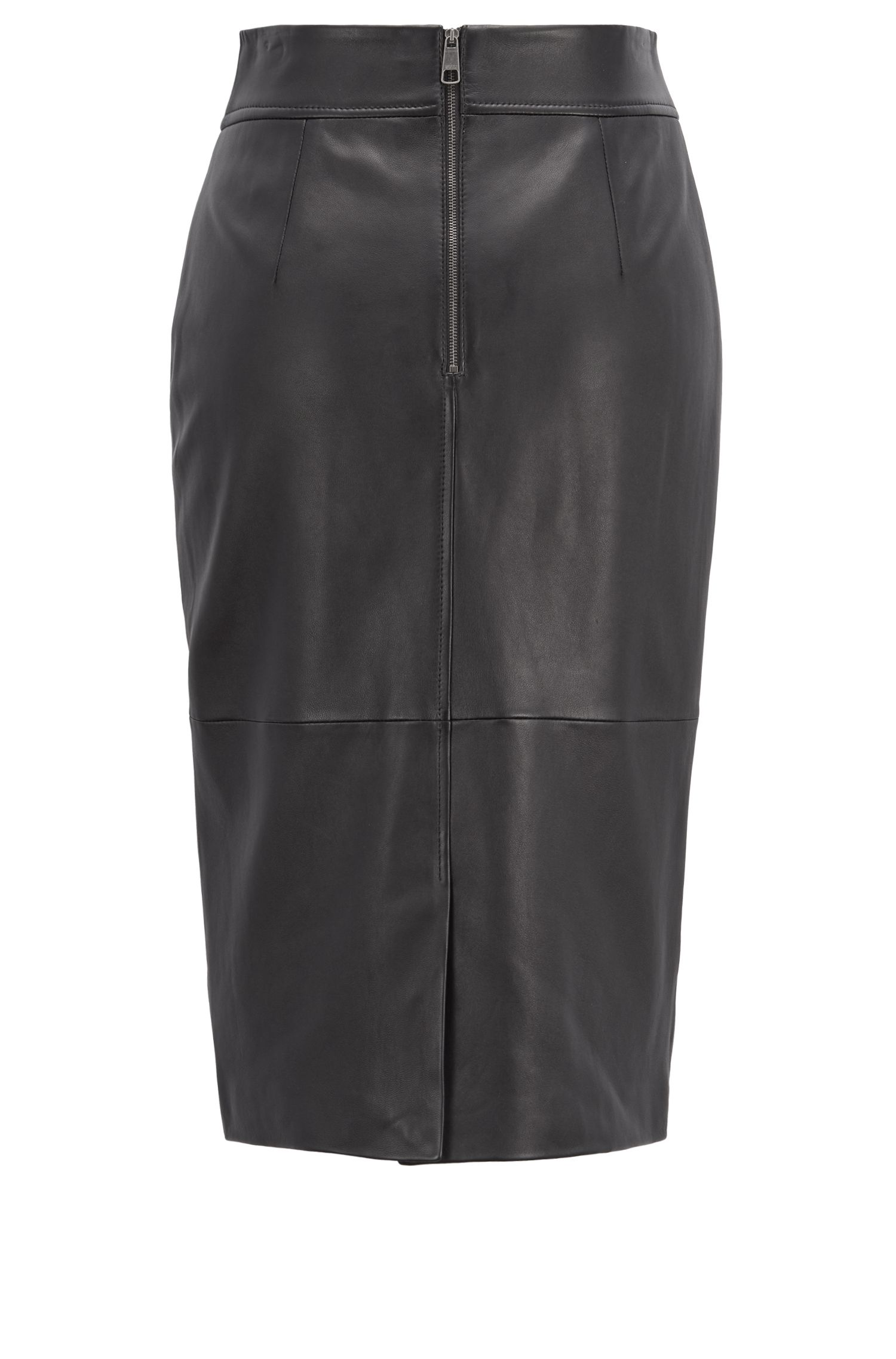 Hugo Boss - Regular-fit pencil skirt in lambskin - 5