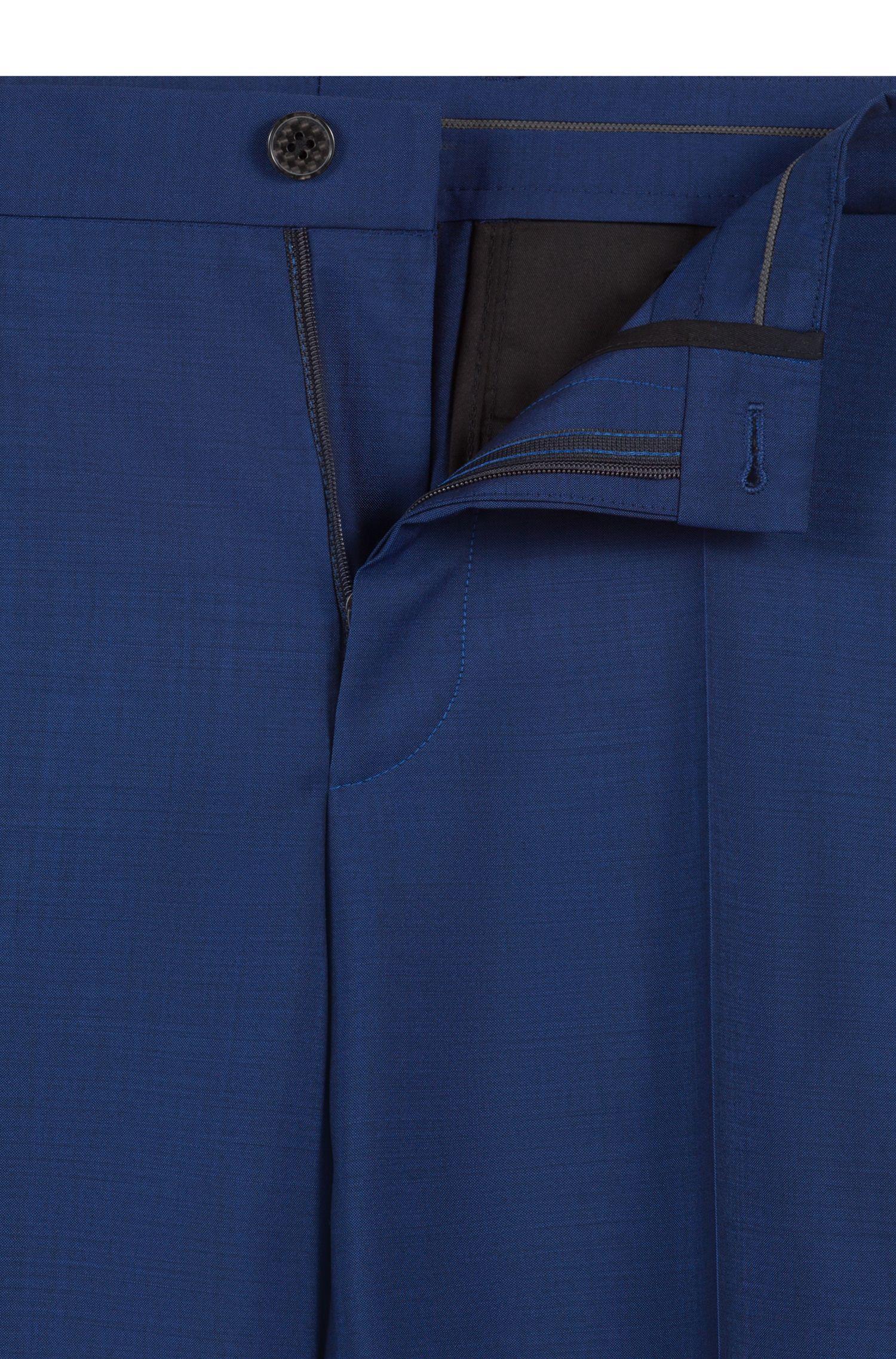 Pantalon Extra Slim Fit en laine italienne mélangée, Bleu
