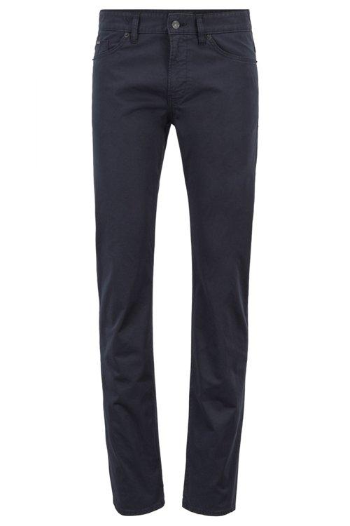 Hugo Boss - Vaqueros slim fit en tejido vaquero satinado con algodón BCI - 1