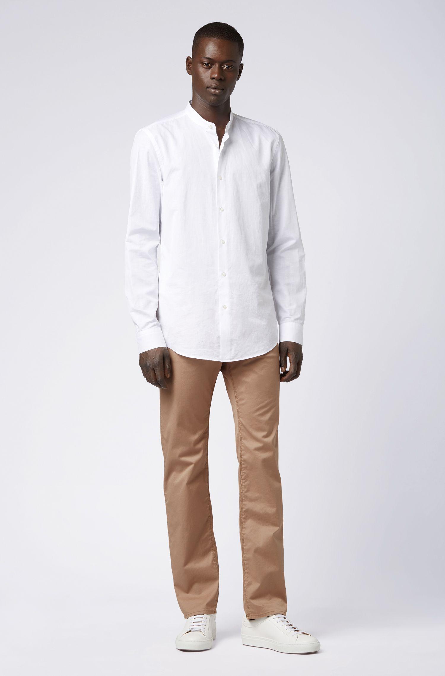 Regular-fit jeans in tan BCI stretch denim, Beige