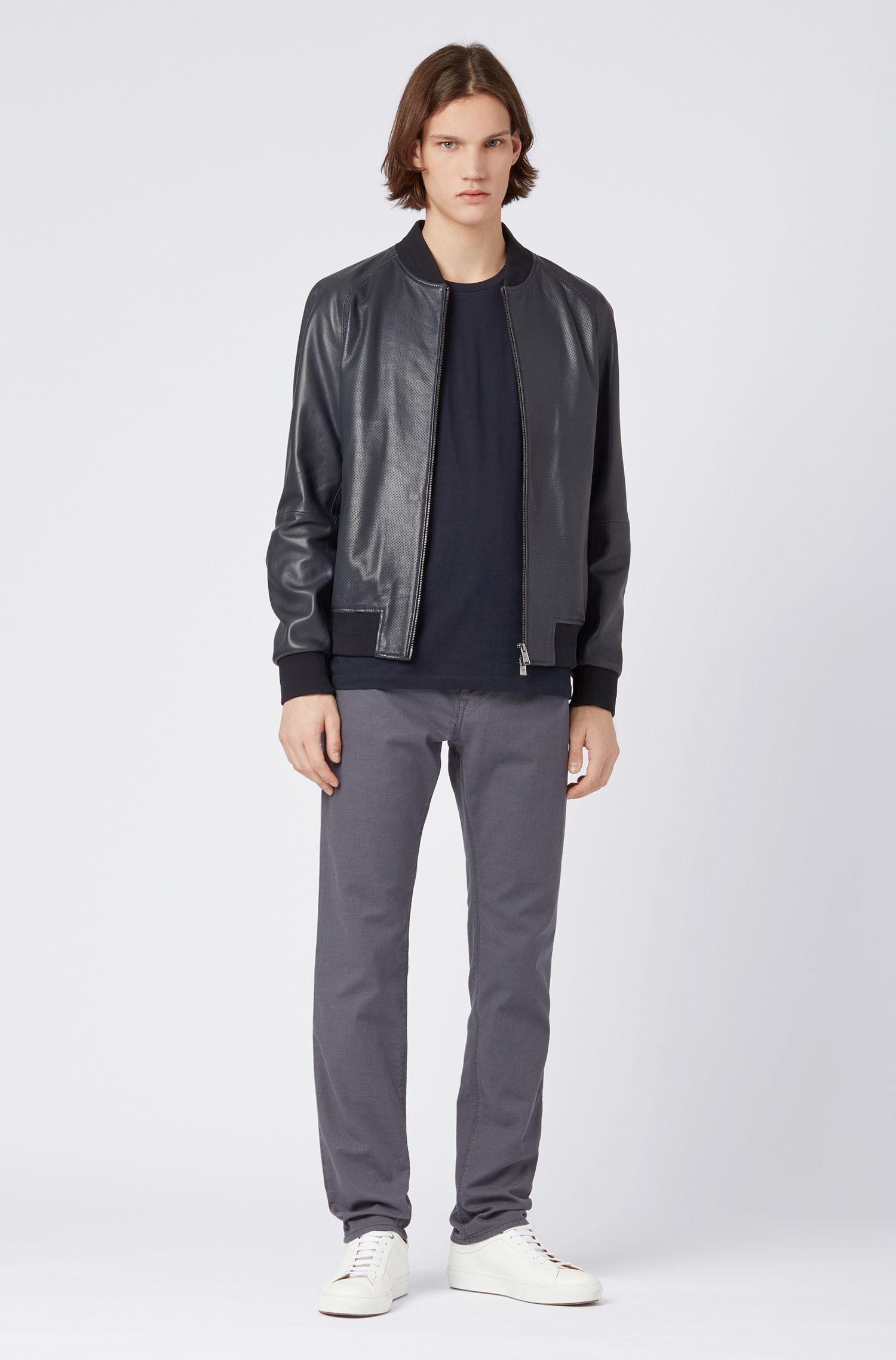 Regular-fit jeans in stretch denim with stitch detailing, Grey