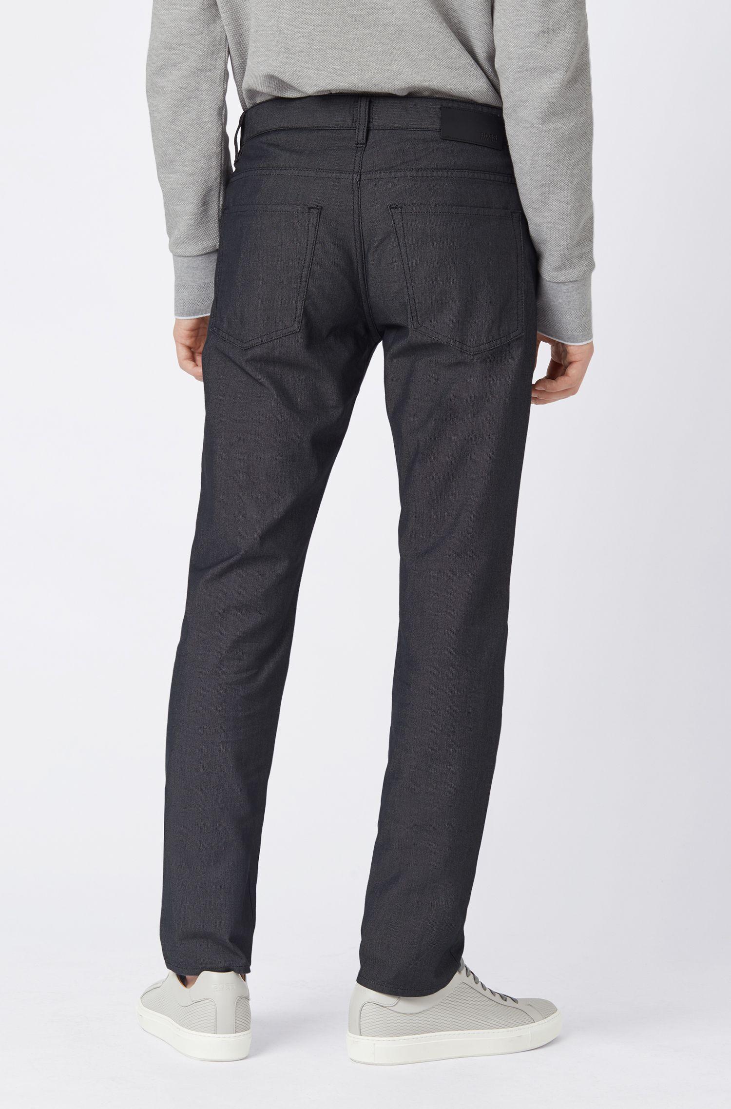 Jeans slim fit con una microlavorazione pinpoint, Nero