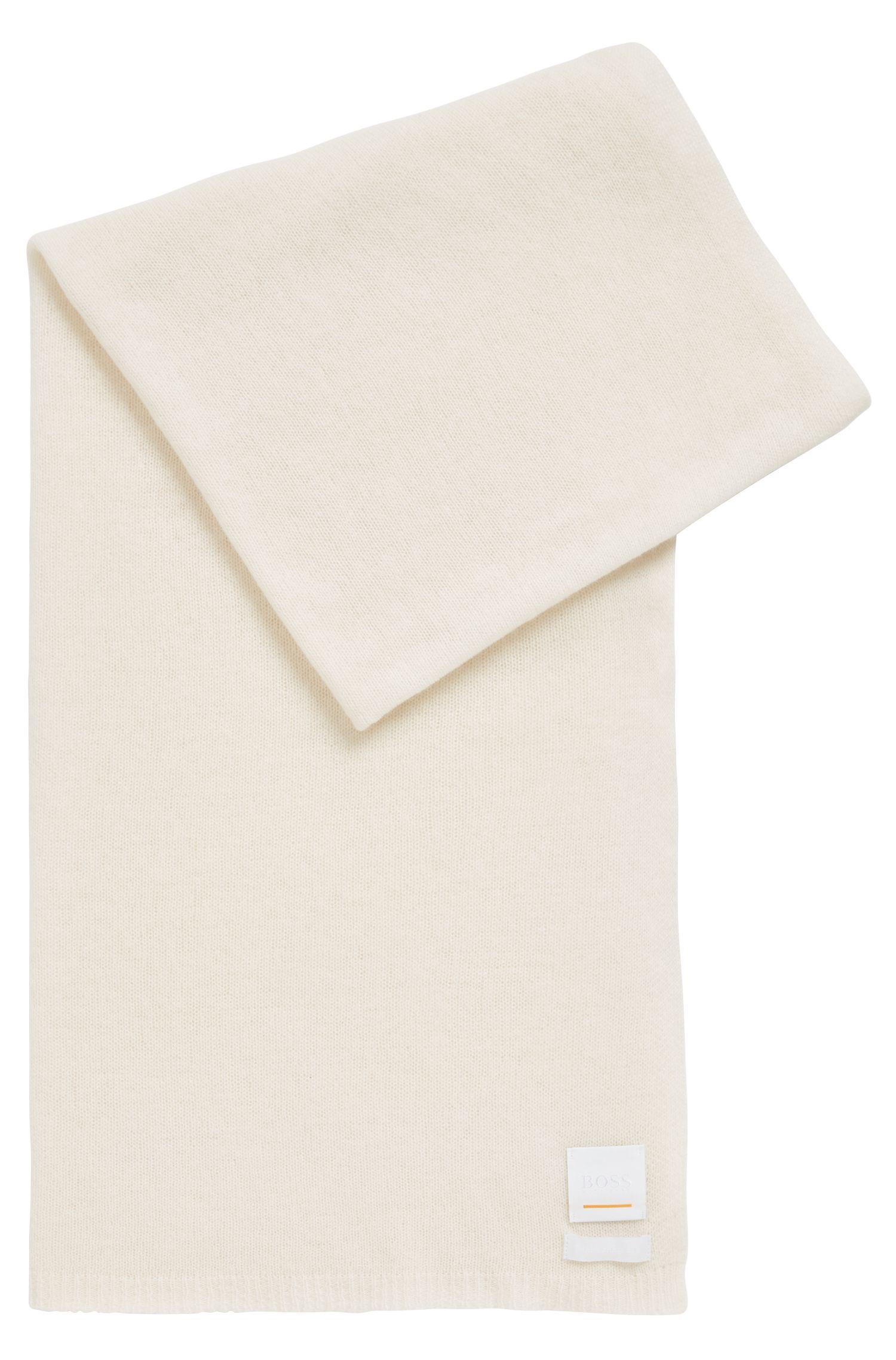 Leichter Strickschal aus Woll-Mix mit Kaschmir, Weiß
