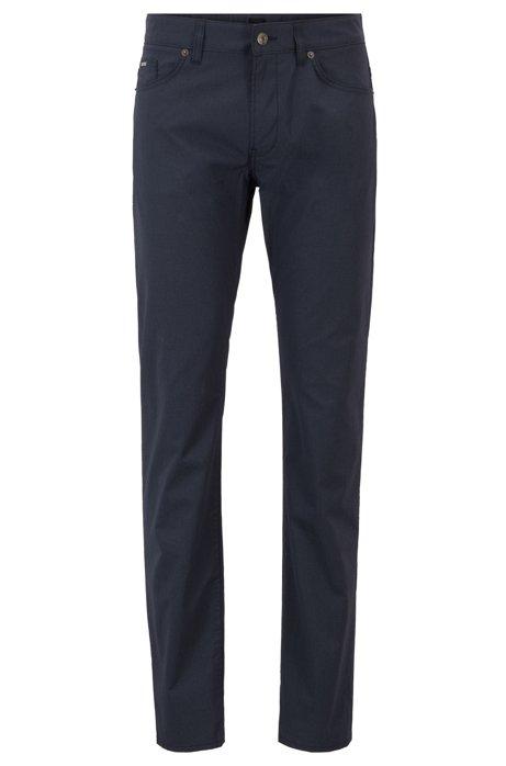 Bedruckte Slim-Fit Jeans aus italienischer Stretch-Baumwolle, Dunkelblau