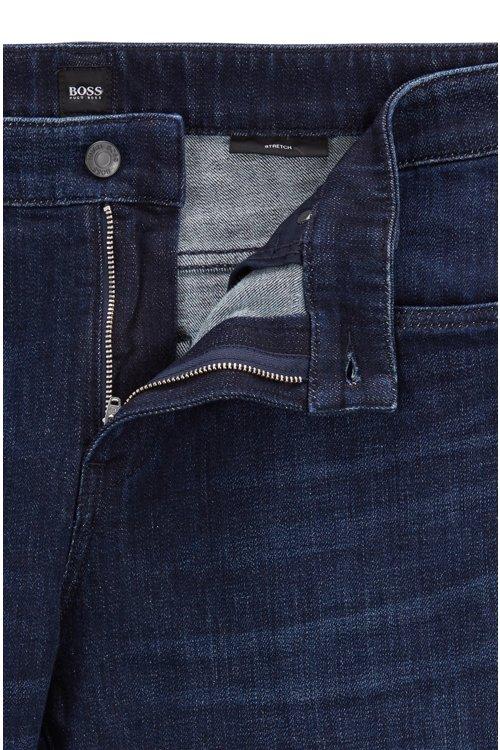 Hugo Boss - Vaqueros slim fit en un cómodo denim elástico azul marino - 6
