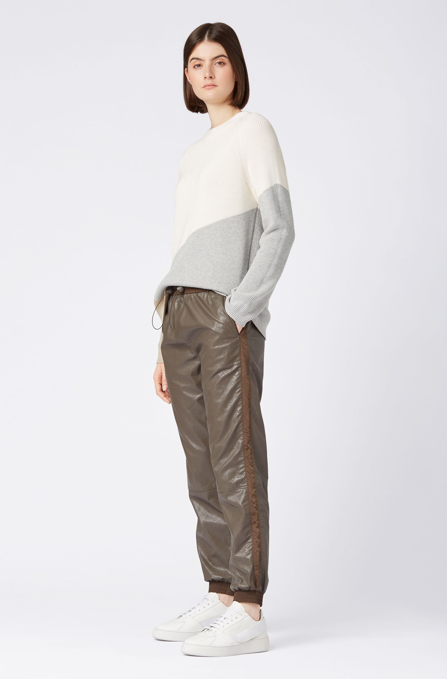 Hugo Boss - Regular-fit faux-leather jogging trousers with cuffed hems - 2