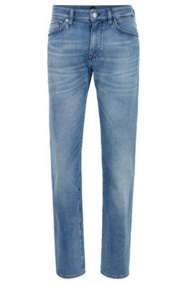 Regular-fit jeans van felblauw BCI-denim, Blauw