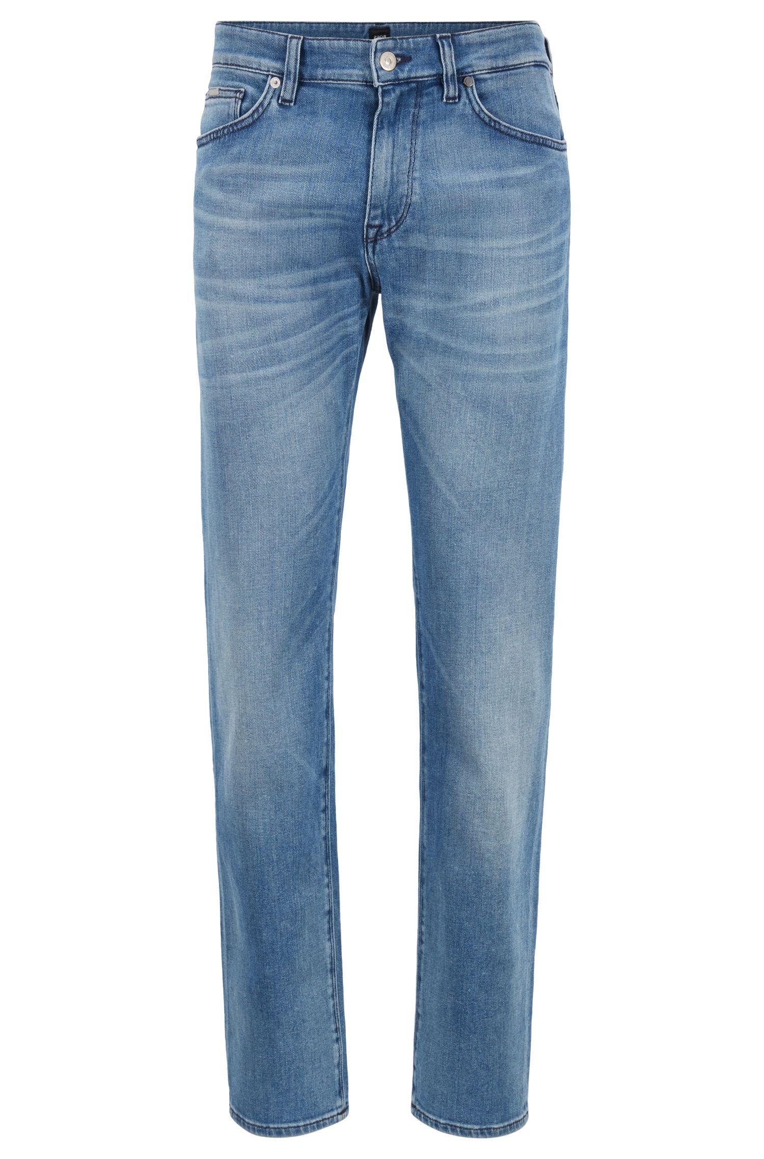 Jeans regular fit in denim BCI blu acceso, Blu